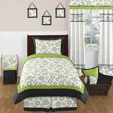 JoJo Designs Sweet Spirodot Lime and Black Childrens and Kids Bedding Set