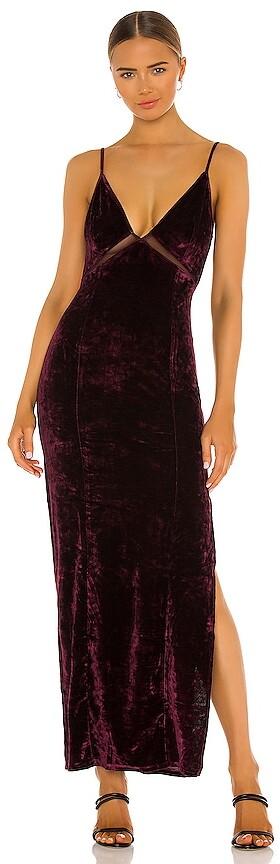 Free People Low Key Crushin Velvet Dress