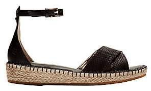 Cole Haan Women's Cloudfeel Lizard-Embossed Leather Espadrille Sandals