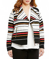 Calvin Klein Plus Stripe Flyaway Jacket