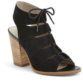 Hinge Women's 'Drea' Peep Toe Leather Sandal