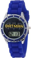 Batman Kids' BAT4063 Logo Blue Rubber Strap Watch