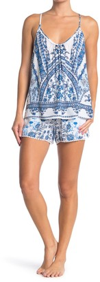Jonquil Floral Geo Camisole & Shorts 2-Piece Pajama Set