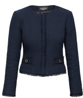 Rumour London Gabrielle Navy Tweed Jacket with Fringing Detail