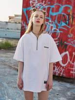 [Unisex] Oversized Zipup T Shirts White