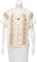 Calypso Embellished Short Sleeve Tunic w/ Tags