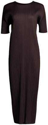 Pleats Please Issey Miyake Monthly Colors June Short-Sleeve Shift Dress