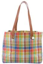 Clare Vivier Leather-Trimmed Woven Tote