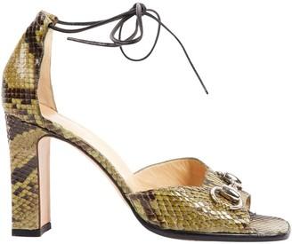 Gucci Green Python Heels