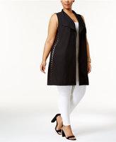 Love Scarlett Plus Size Open Grommet Vest