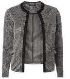 Dorothy Perkins Womens Black And White Boucle Jacket- Black/White