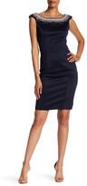 Terani Couture Boatneck Embellished Dress
