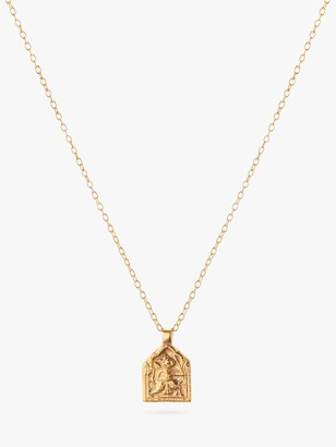 Goddess Charms God of Success Medium Chain Pendant Necklace, Gold