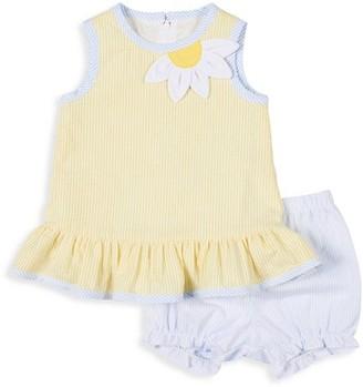 Florence Eiseman Baby Girl's 2-Piece Daisy Fresh Seersucker Dress & Bloomers Set