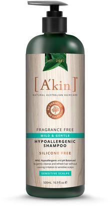 Akin A'Kin Fragrance Free Mild & Gentle Hypoallergenic Shampoo 500Ml