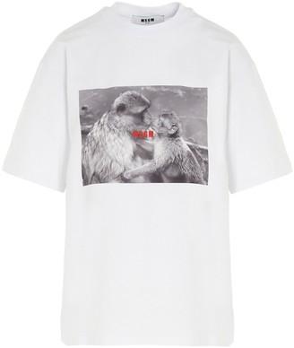 MSGM Monkey Kiss Print T-Shirt