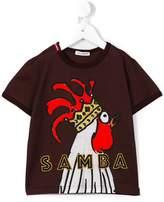 Dolce & Gabbana Samba rooster print T-shirt