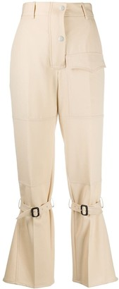 Victoria Beckham Knee-Strap Flared Trousers