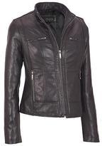 Wilsons Leather Womens Center Zip Leather Scuba W/ Front Zipper Pockets