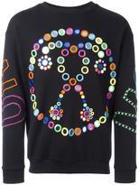 Moschino mirror embroidered sweatshirt