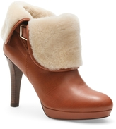 Brooks Brothers Calfskin and Shearling Ankle Boots