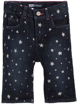 Levi's Toddler Girl Charlene Glitter Pattern Denim Bermuda Shorts
