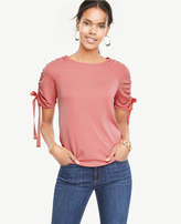 Ann Taylor Ribbon Ruched Top