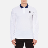 Wood Wood Men's George Long Sleeve Polo Shirt Bright White