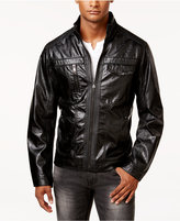 INC International Concepts Men's Zones Faux Leather Jacket, Only at Macy's