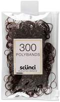 Scunci Mixed Size Polybands in Zippered Pouch Brown - 300pk