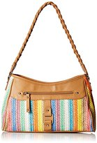 Rosetti Braidy Bunch Small Hobo Straw Bag