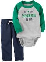 "Carter's Baby Boy St. Patrick's Day ""Let the Shenanigans Begin"" Bodysuit & Pants Set"