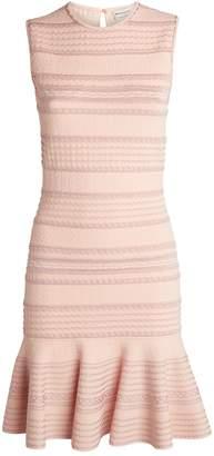 Alexander McQueen Textured Knit Mini Dress