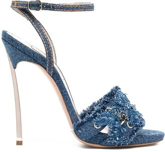 Casadei Denim High Heel Sandals
