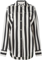 Nina Ricci button-down striped shirt - women - Silk - 36