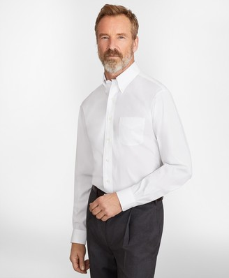 Brooks Brothers Madison Classic-Fit Dress Shirt, Performance Non-Iron with COOLMAX, Button-Down Collar Twill