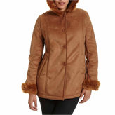 JCPenney Excelled Leather Excelled Hooded Faux-Shearling Jacket