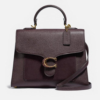 Coach Women's Mix Leather Top Handle Tabby - Oxblood