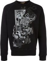 Roberto Cavalli snake print sweatshirt