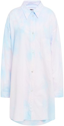MM6 MAISON MARGIELA Tie-dyed Cotton-poplin Mini Shirt Dress