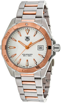 Tag Heuer Aquaracer WAY1150.BD0911 Men's Round Silver Stainless Steel Watch
