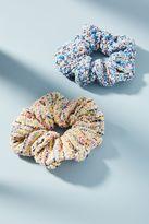 Anthropologie Tweed Scrunchie Set