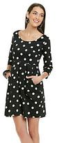 Betsey Johnson Dot Print Dress With Empire Waist