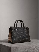 Burberry The Medium Banner in Riveted Leather and House Check