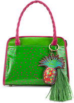 Patricia Nash Polka Dot Pineapple Paris Medium Satchel