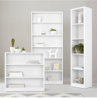 Home Essentials -Metro Tall Half Width Bookcase - White