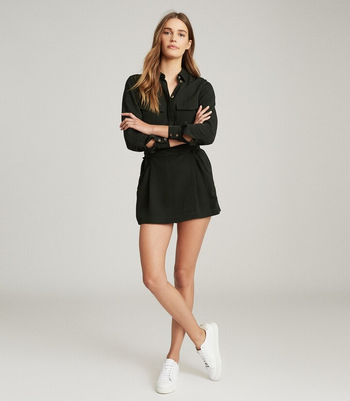 Thumbnail for your product : Reiss May - Utility Playsuit in Khaki
