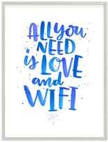 Love and Wifi, Wall Art by Minted®, 30 x 40, Gray