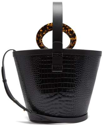 Nico Giani - Nelia Large Croc-effect Leather Bucket Bag - Womens - Black