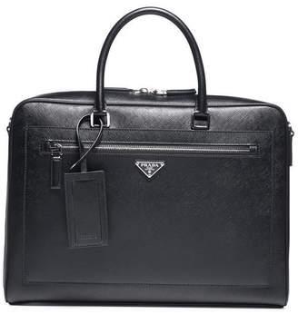 Prada Saffiano Logo Briefcase
